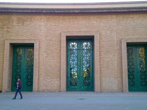 Art Deco Doors at Side Entrance of the Pavilion Hall